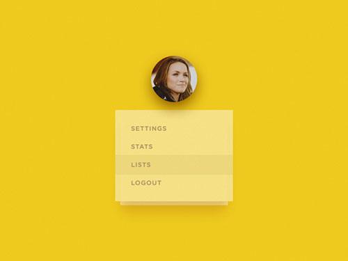 UI 设计灵感之:下拉菜单(dropmenu)
