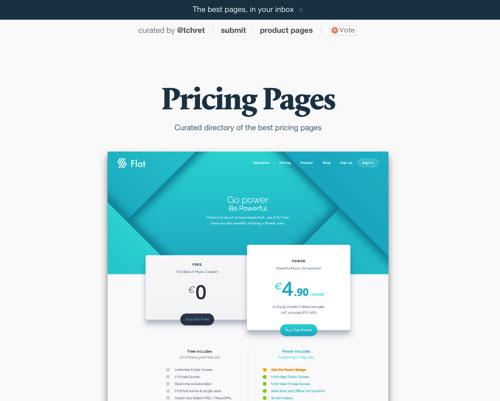 分享各种报价表单页面设计的网站:Pricing Pages