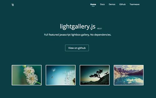 全能 lightbox 灯箱插件: lightgallery.js