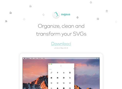 免费的SVG图标管理工具: SVGSUS,可直接转换成图标代码!