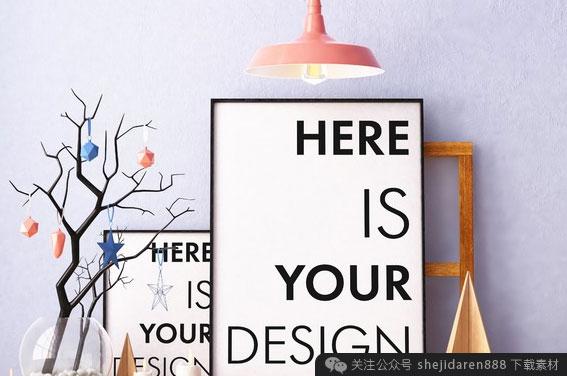 【一周限免】高清图像、圣诞素材、生锈纹理、海报展示模板(#008)