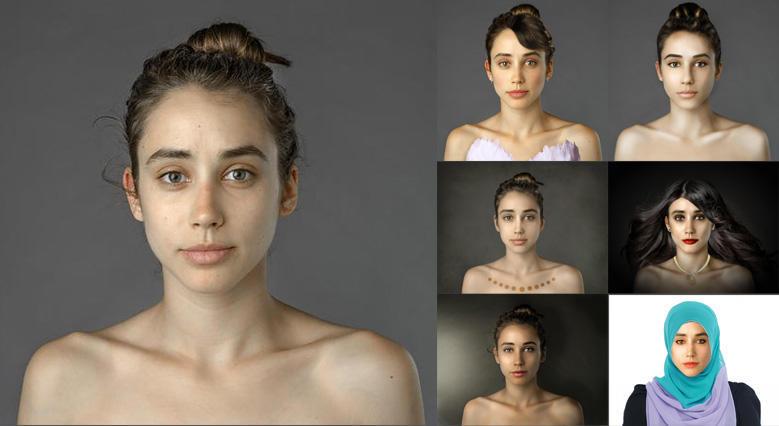 一张肖像,被 PS 成20多个国家形象