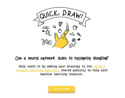 Quick Draw 手绘涂鸦游戏 已收集5000万张涂鸦数据
