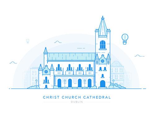 插画:基督教会大教堂 (都柏林)