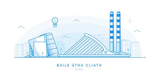 插画:Baile Átha Cliath(爱尔兰)