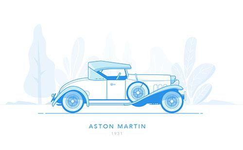 插画:阿斯顿 马丁 1931