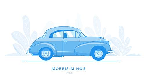 插画:MORRIS MINOR 1958