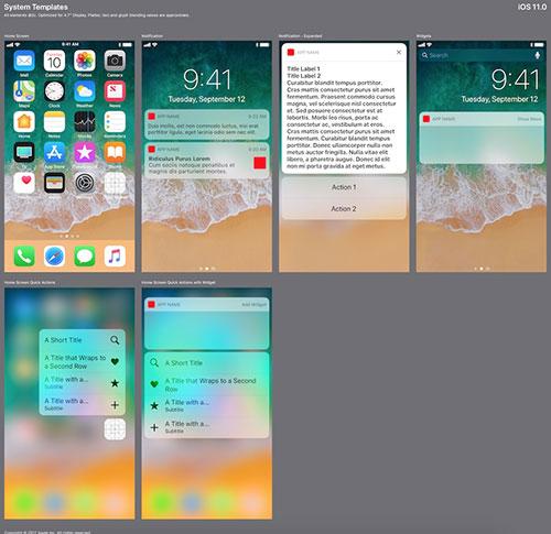 iOS 11 系统模板