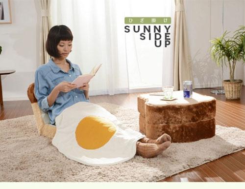 天气凉了,来个超级巨型煎蛋毛毯吧~