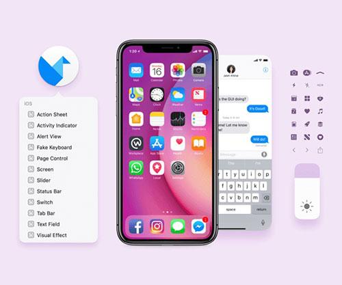 脸书出品的 iOS 11模板文件,含 PSD/SKETCH 和壁纸