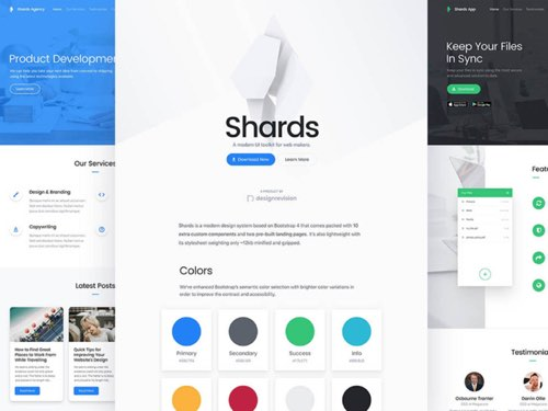bootstrap 4 主題:shards