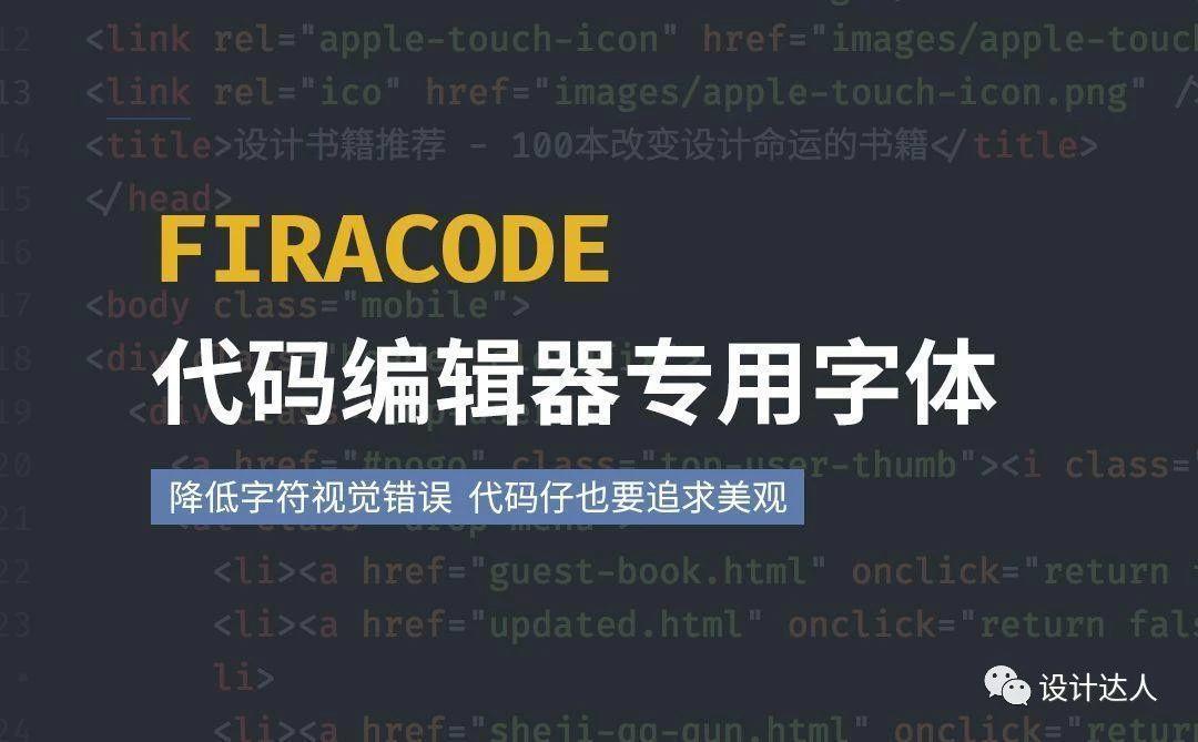 网页编辑器也美化,FiraCode 代码专用等宽字体