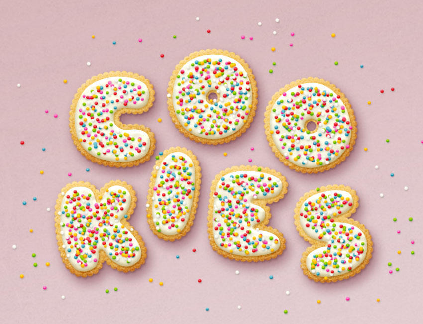 ps创建美味的饼干字体教程