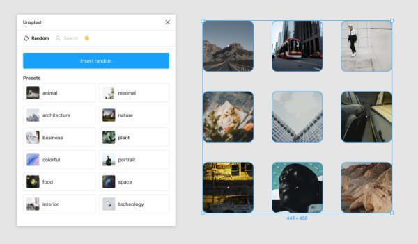 Unsplash - 摄影作品填充插件