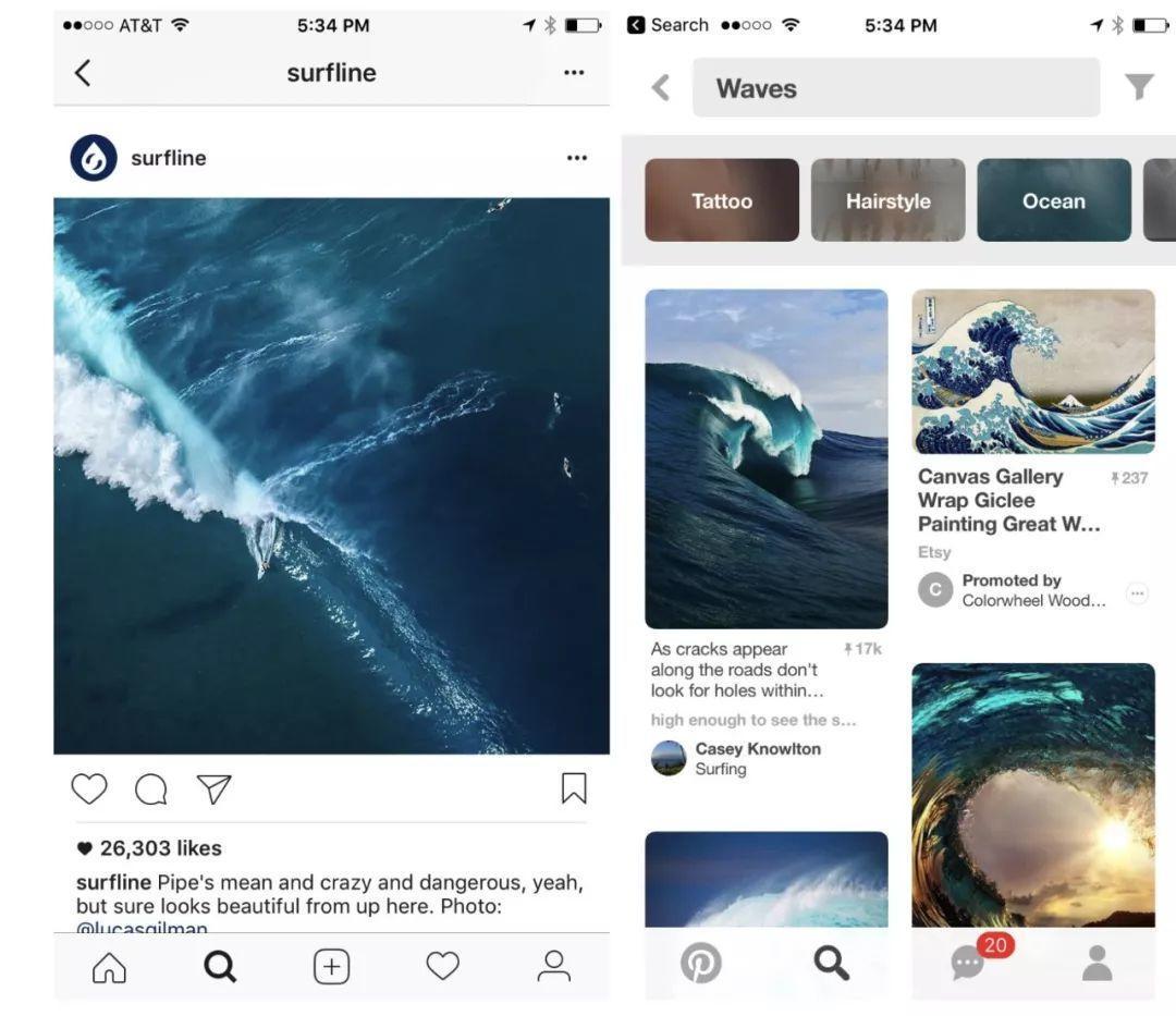 Instagram 发现和搜索灵感图片