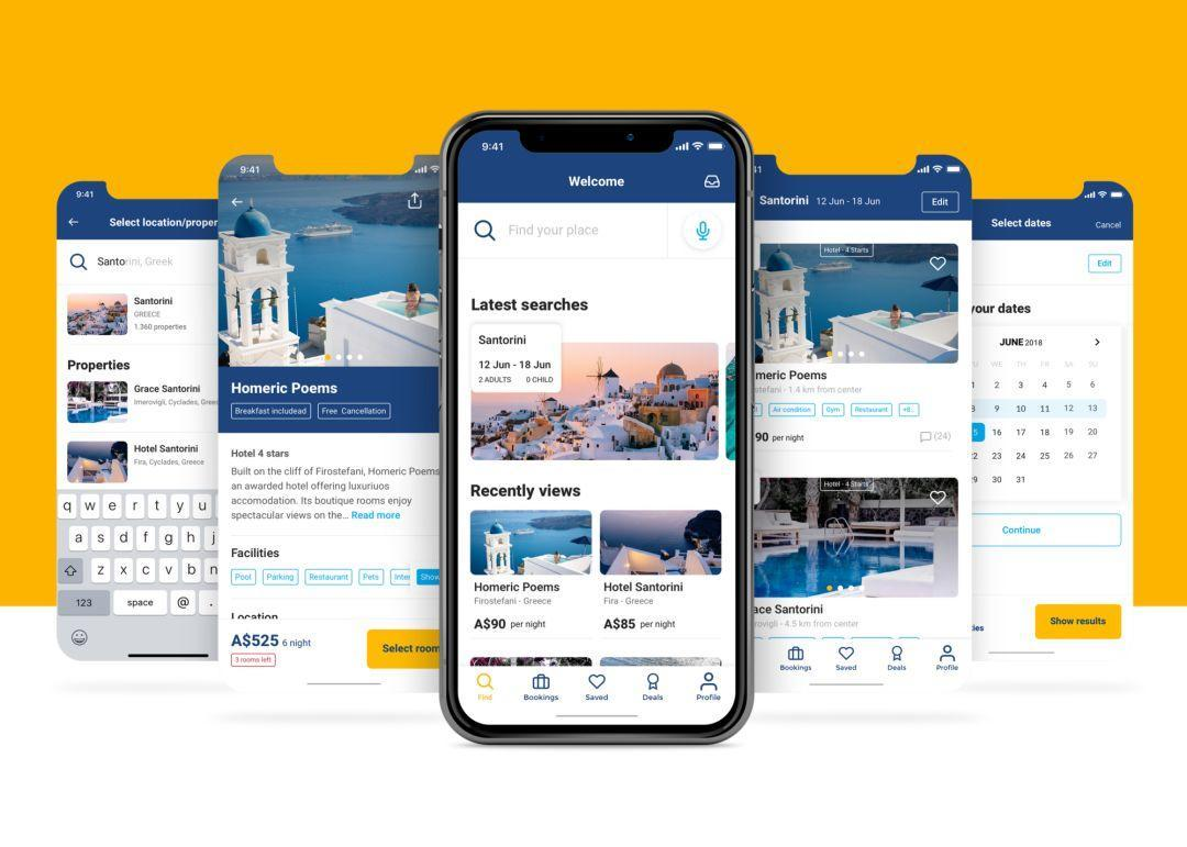 Booking酒店预订APP UI设计改版案例