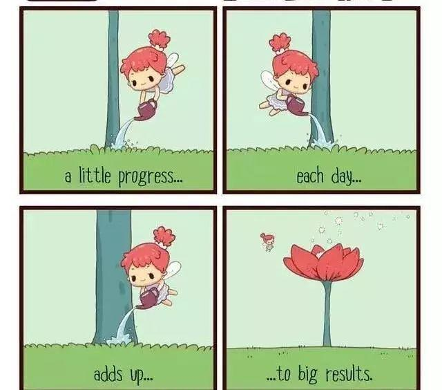 四格漫画-Just A Little Each Day每天一点点-12