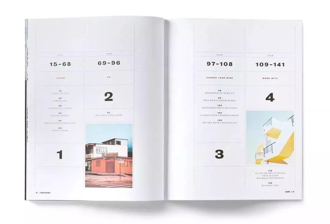 画册目录页的8大版式设计技巧