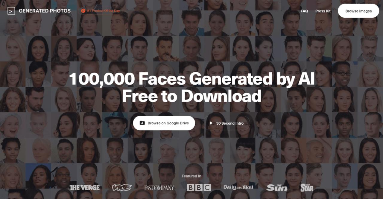 10万张免版权真实人物头像图库 纯AI生成