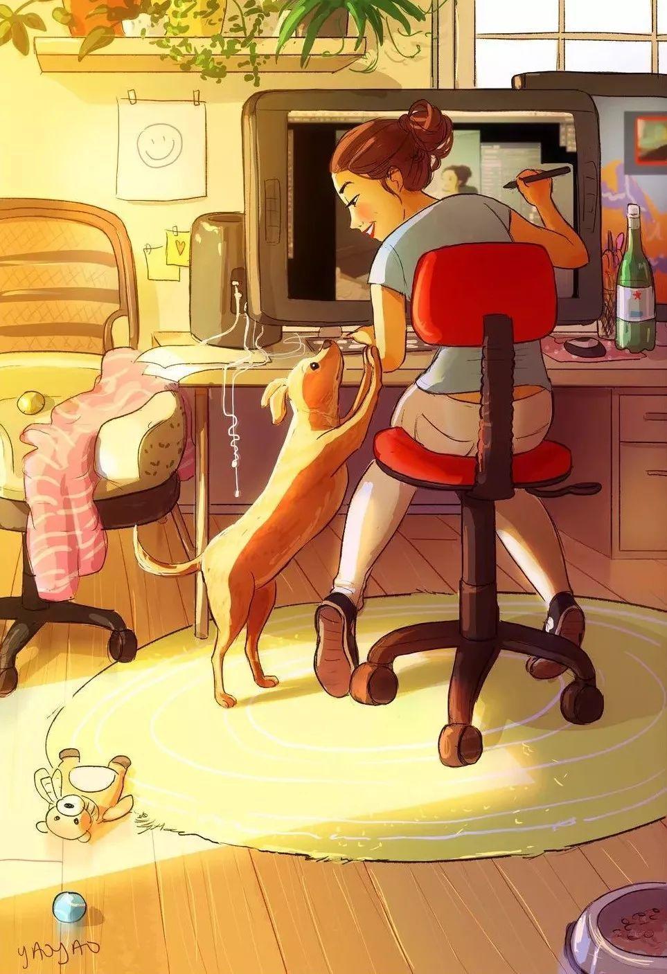 插画:单身女的日常(快来看看这有没有你)