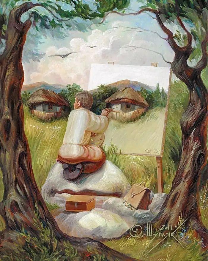 雙重視覺錯覺畫中畫