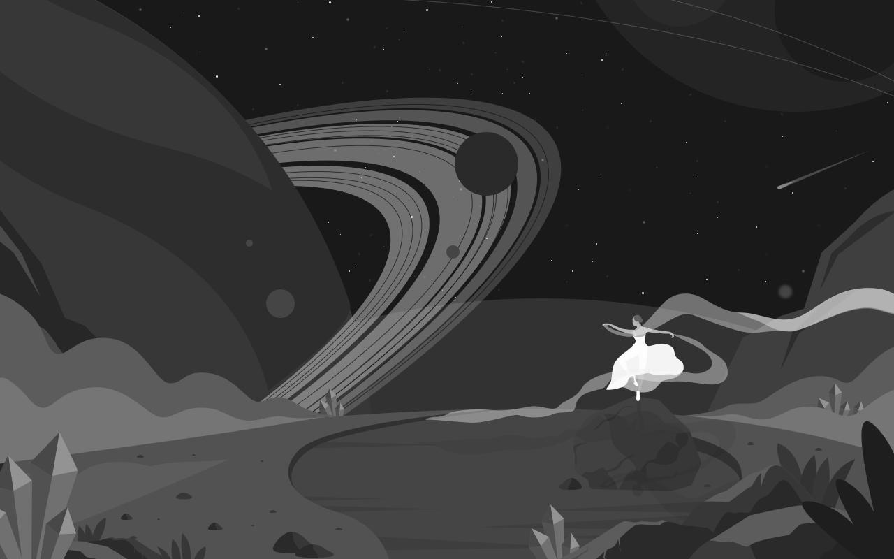 用Sketch+PS绘制星空插画(鼠绘)