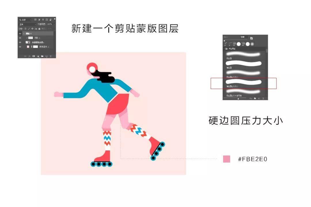 AI+PS插画教程,轮滑美少女