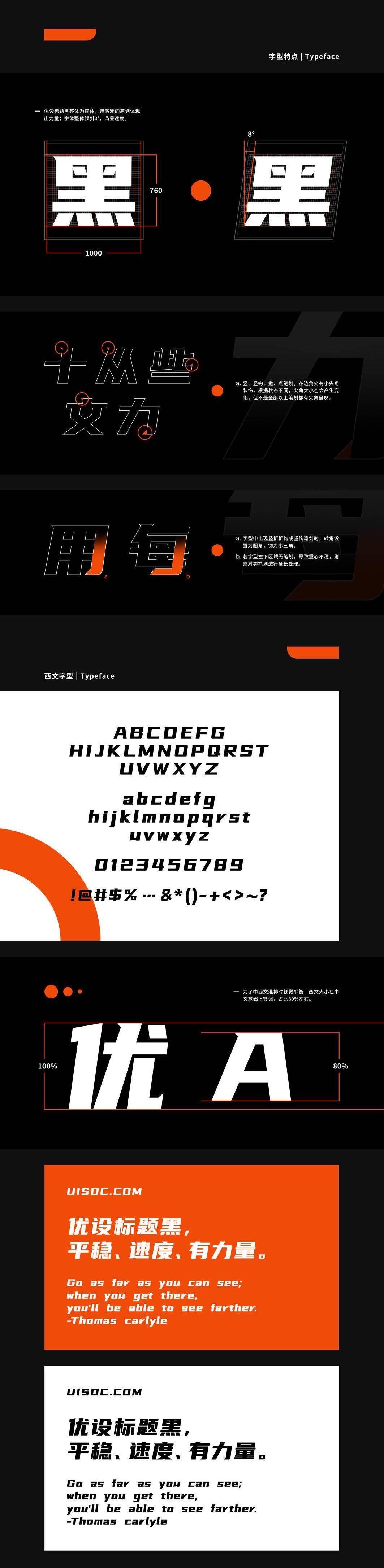 优设标题黑,一款有冲击感的字体(附下载)