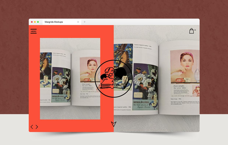 复古风的营销网站设计,2小时就能出稿
