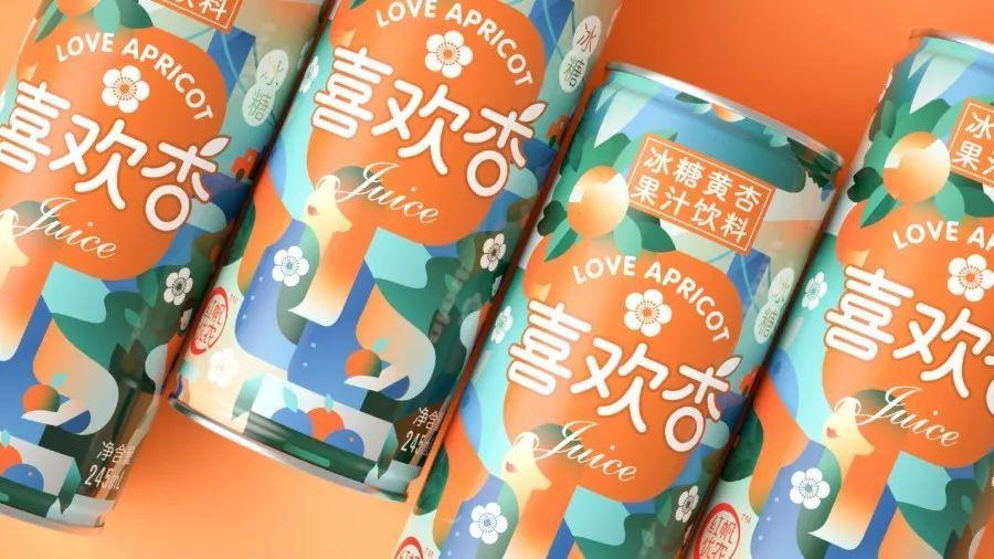 手绘插画风的饮料包装设计作品
