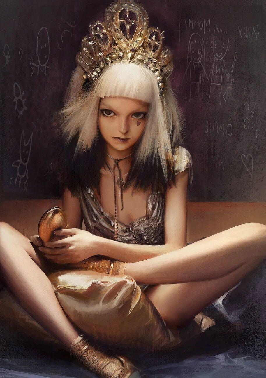 年轻女性插画作品,这有你的女神吗?
