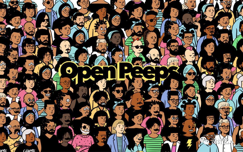 涂鸦人物素材库,可搭配60万组要人物组合 – openpeeps