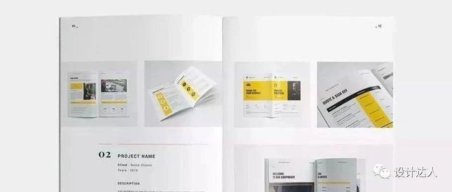 专业的设计师作品集就如画册一样