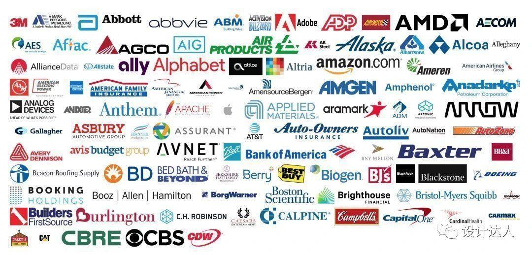 财富500强企业的LOGO及配色板