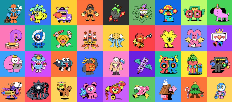 扁平化插画 | 99小怪兽 每个都是独特的