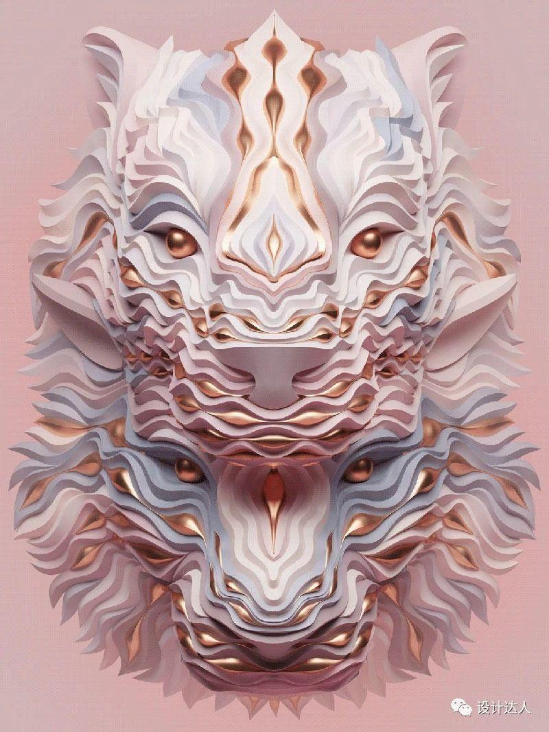这组3D动物肖像设计,让微信头像惊艳整个朋友圈