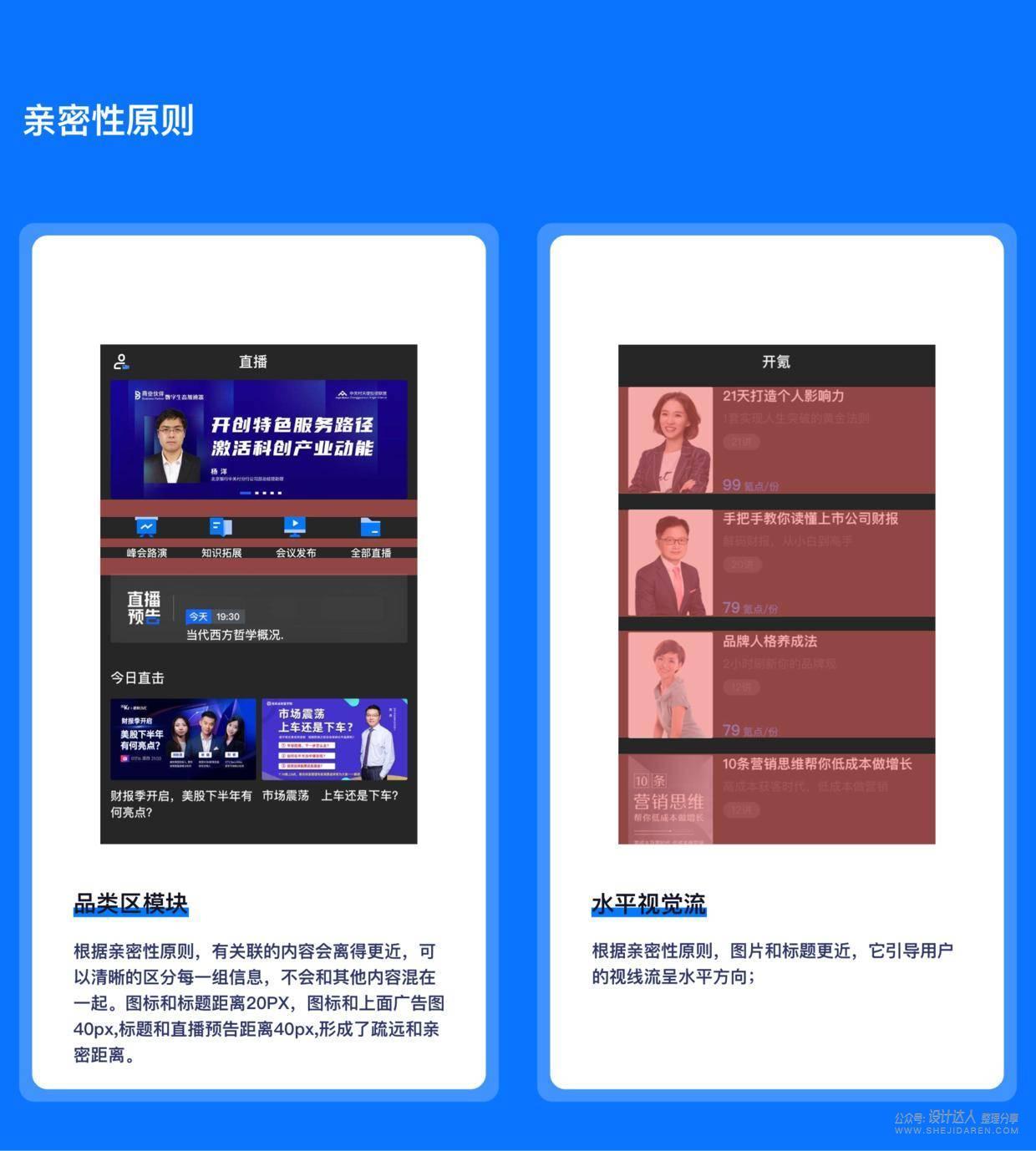 作品集、UI界面、视觉设计中的排版法则应用