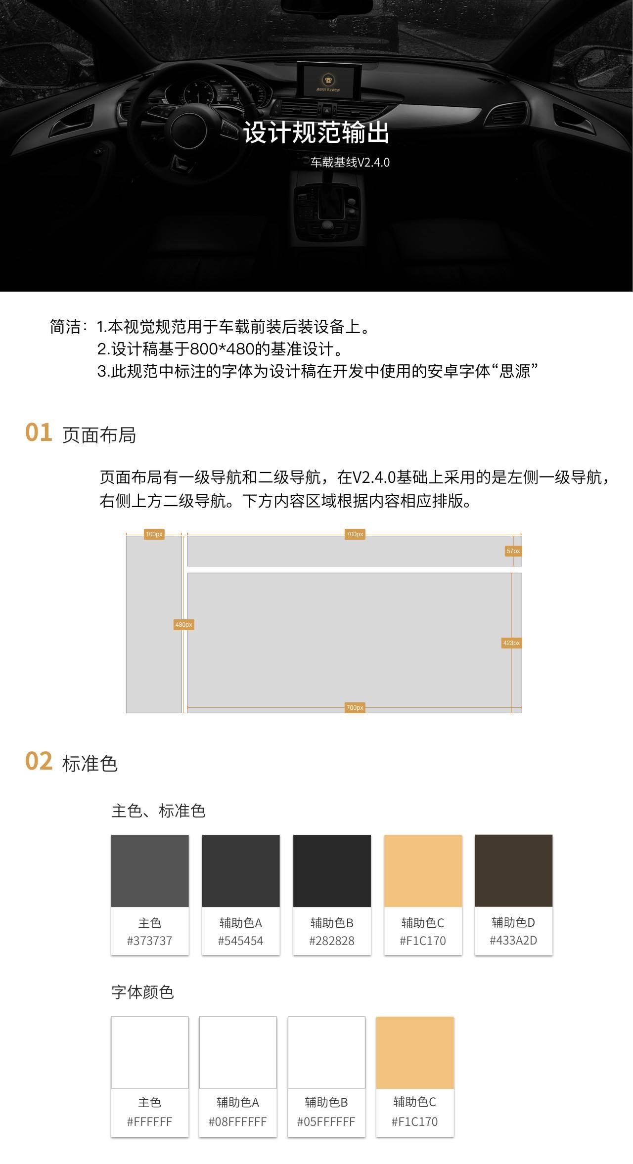 车载UI的设计规范文档参考