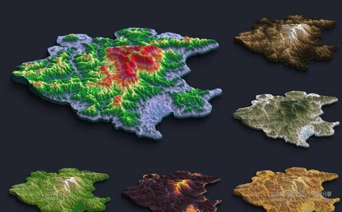2D可视化地图制作方法(附地图PS插件)