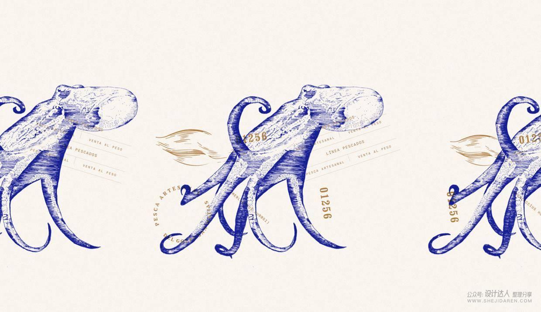 手绘简约风格的肉食品牌设计