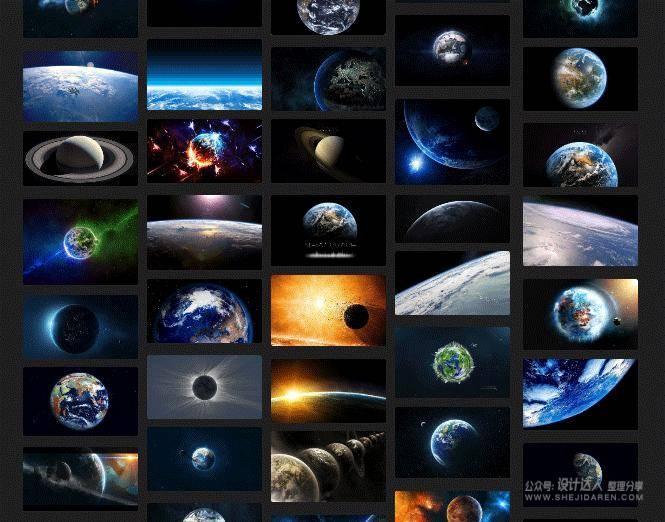 """利用""""星球""""素材设计大气的PPT作品吧!"""