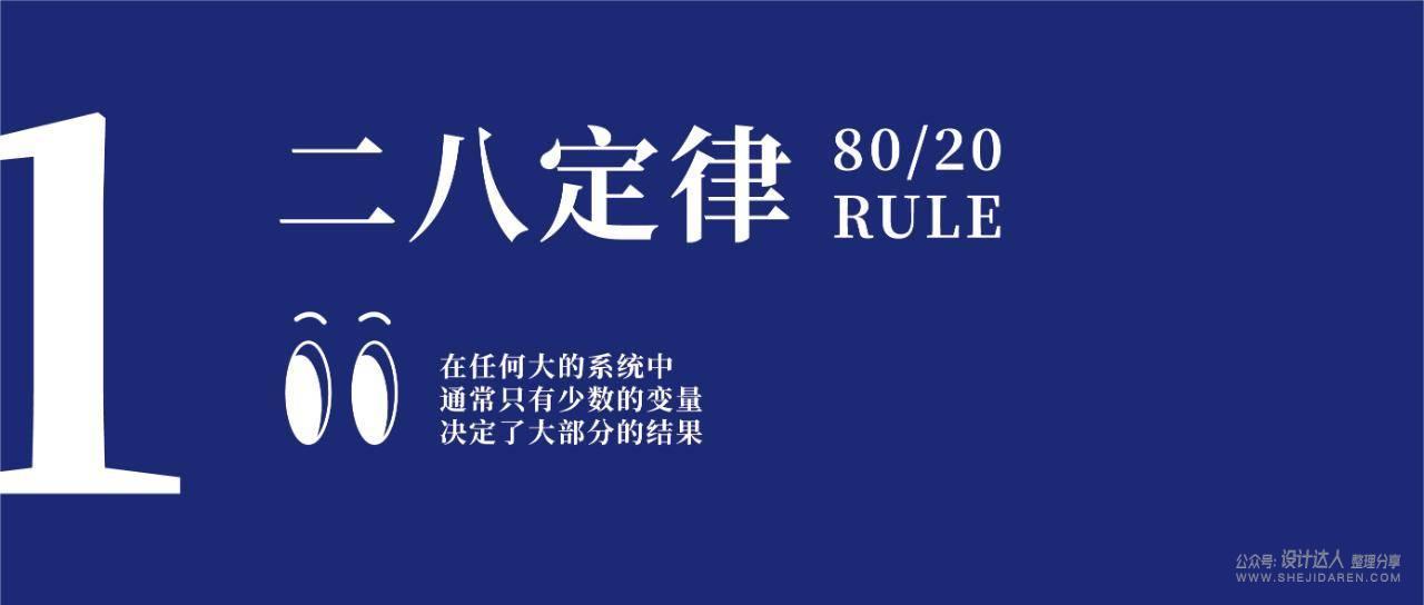 设计法则:二八定律、美观实用效应、功能可见性、拟人化、黑色效应