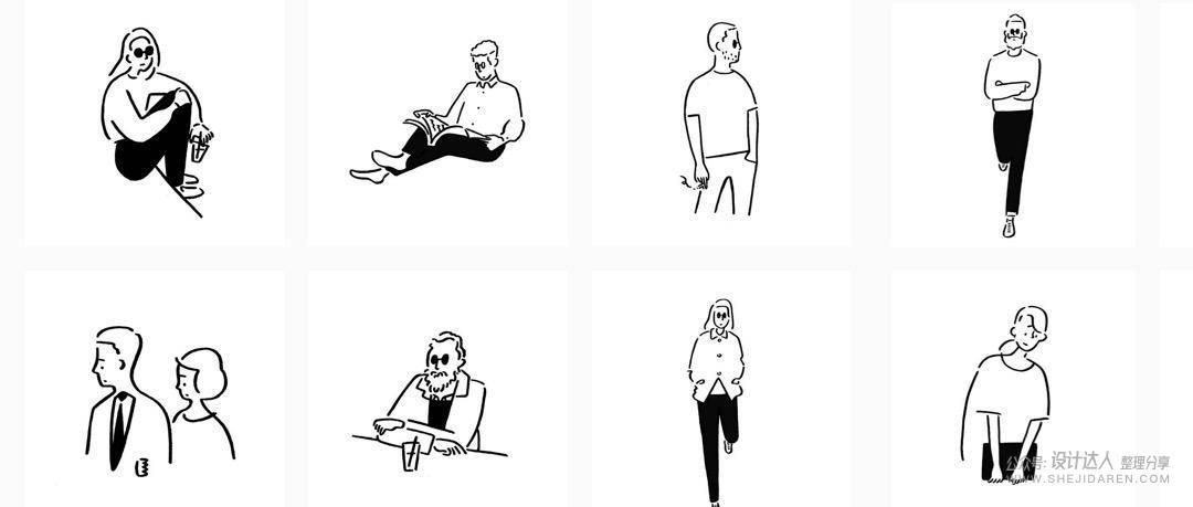 """这位日本插画家的""""简笔画""""无人能及"""