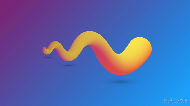 用AI绘制3D渐变效果的网页BANNER