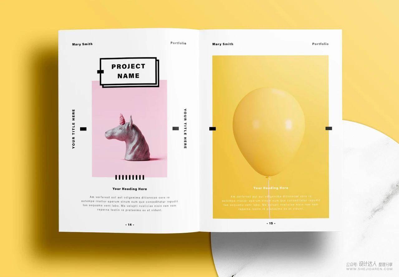 个人作品集小册子设计,排版很舒服