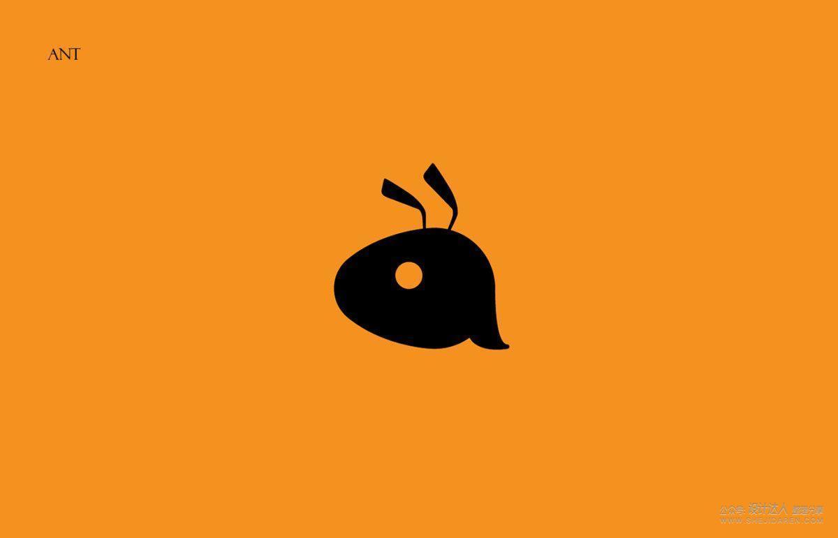 32个可爱的蚂蚁LOGO设计作品