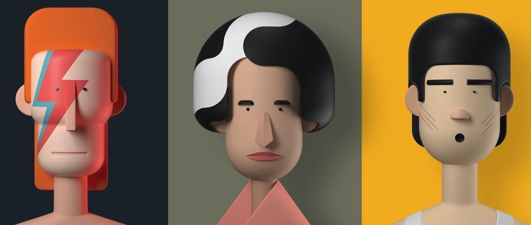 10k点赞量的插画风格:二维转3D插画设计