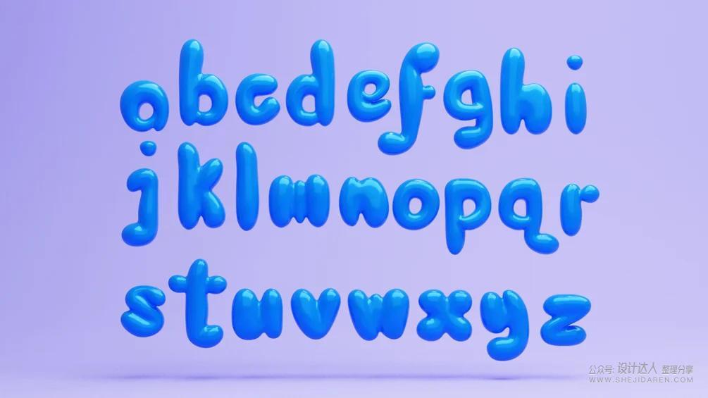 卡通3D字母素材(PNG和3D源文件)