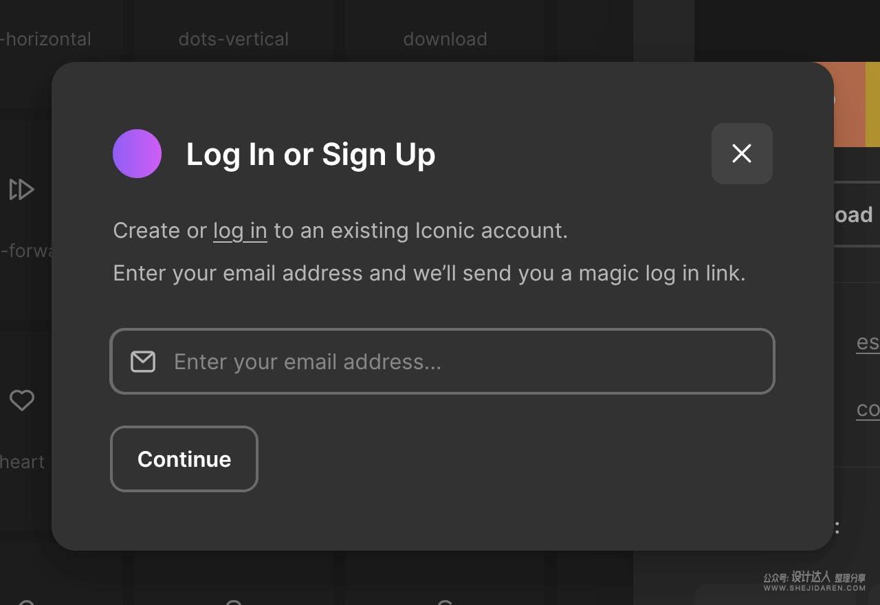 免费线性图标网站Iconic,在线即可下载PNG/SVG