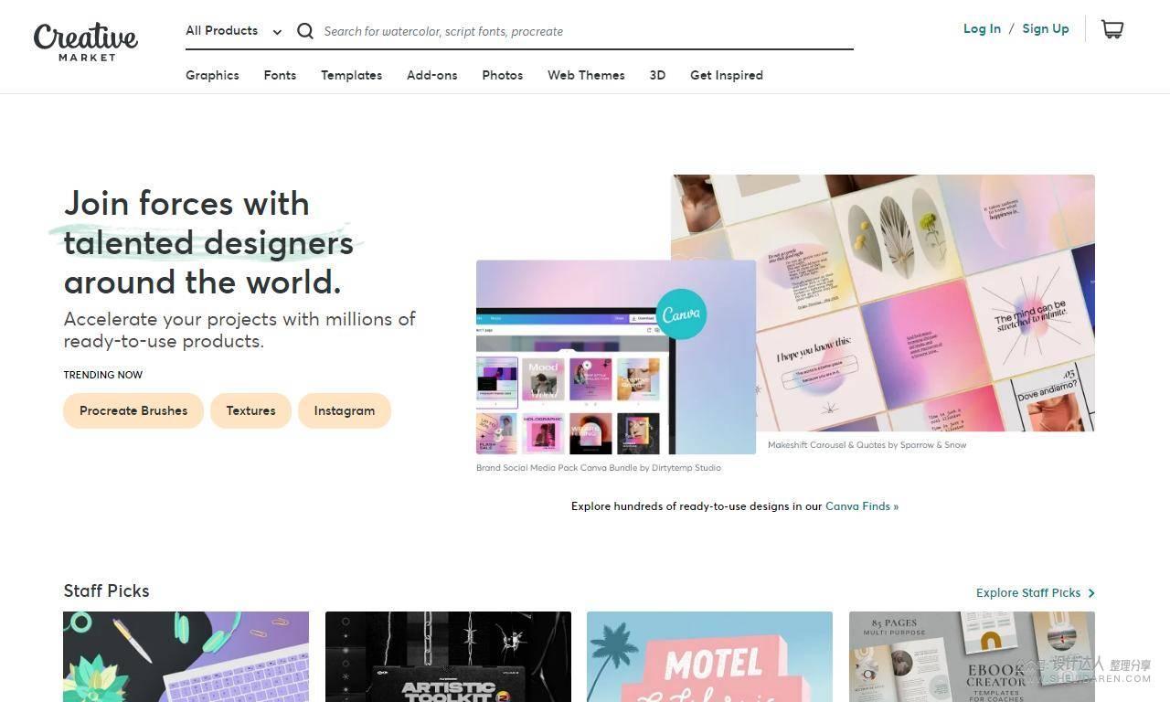 设计师不接单也能赚美元:20个优质设计作品销售平台!